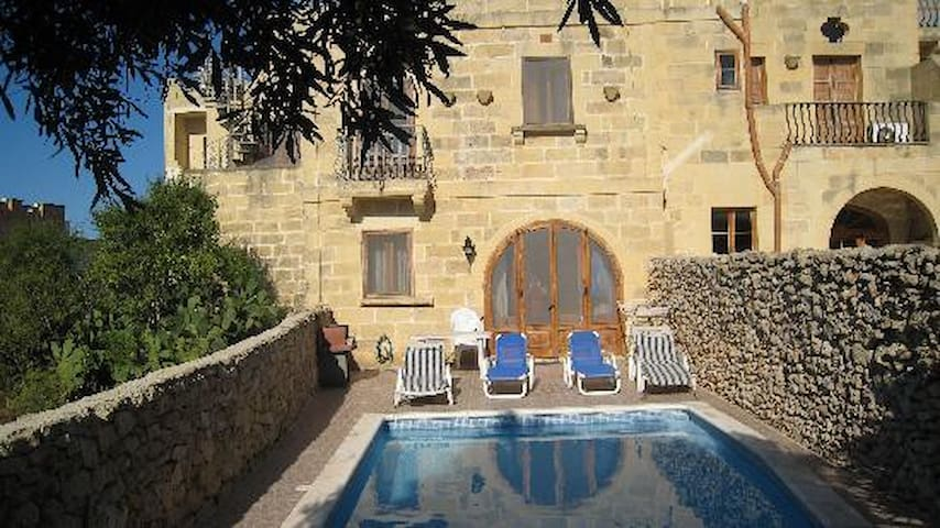 A beautiful farmhouse with private pool