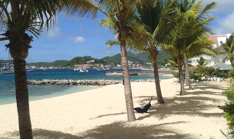 Studio piscine et plage privée à l'anse des sables