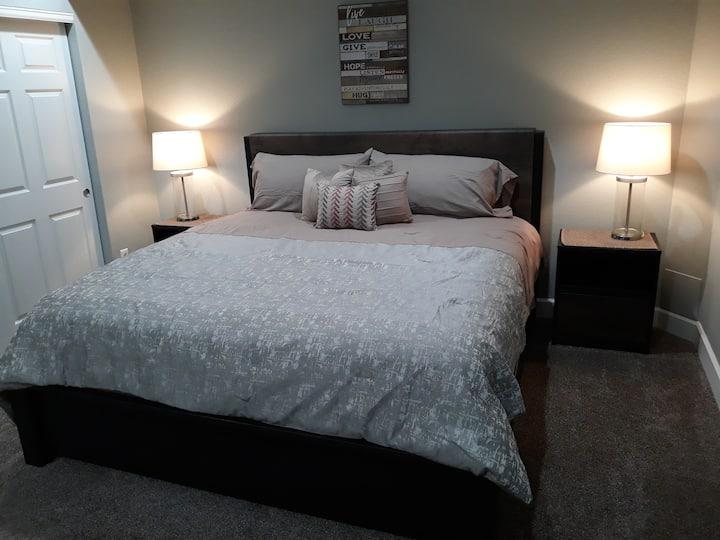 """Breckenridge"" King Bedroom with kitchenette."