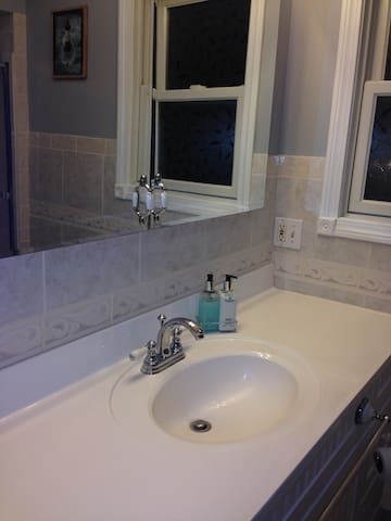 Private bathroom is directly off bedroom