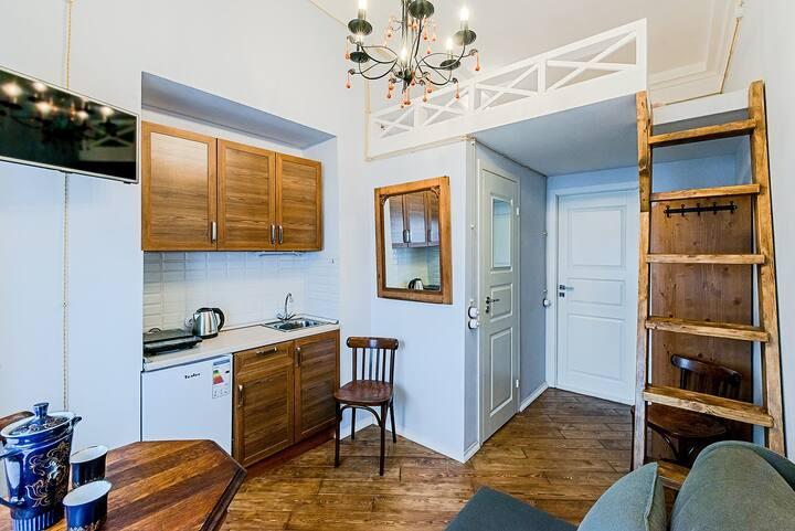 Квартира-студия для троих гостей в Доме на Неве
