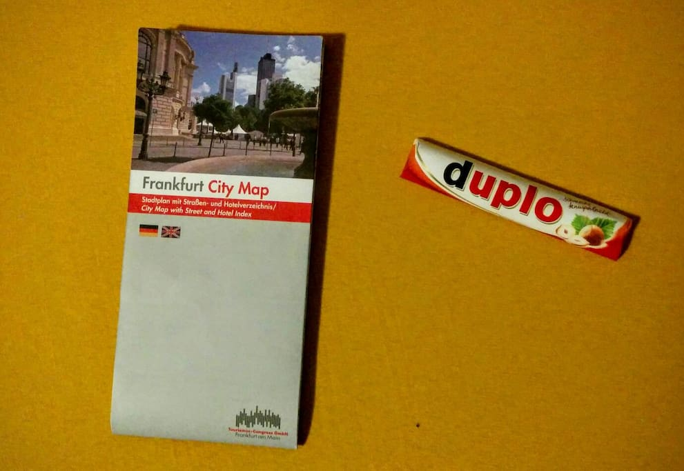 City Guide and sweets for our guest