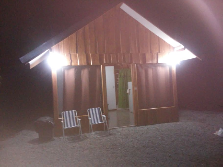 Spectacular cabins at night.....30 m2 each one.