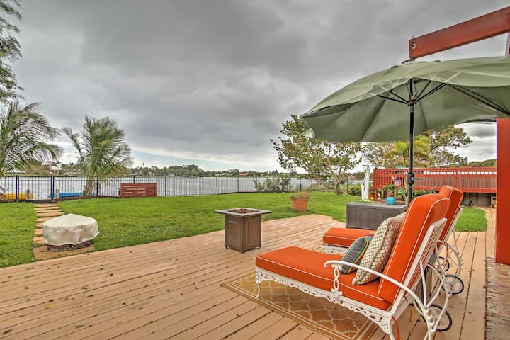 NEW! Delray Beach Studio w/Dock, Swim Spa & Lake Ida Views