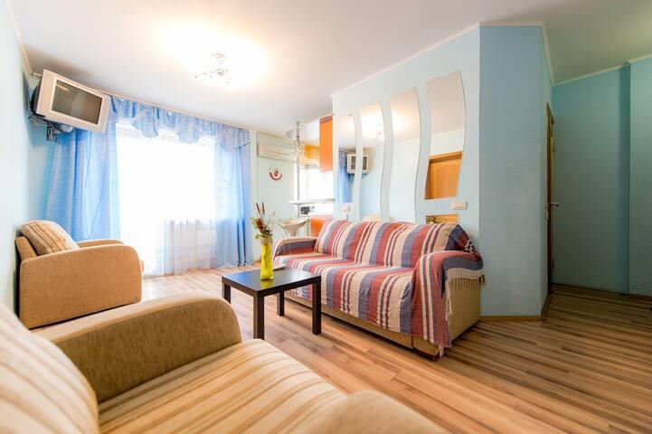 гостиная комната:двухместный раскладной диван