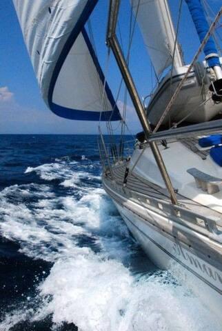 58 feet sailing yacht in the San Blas islands