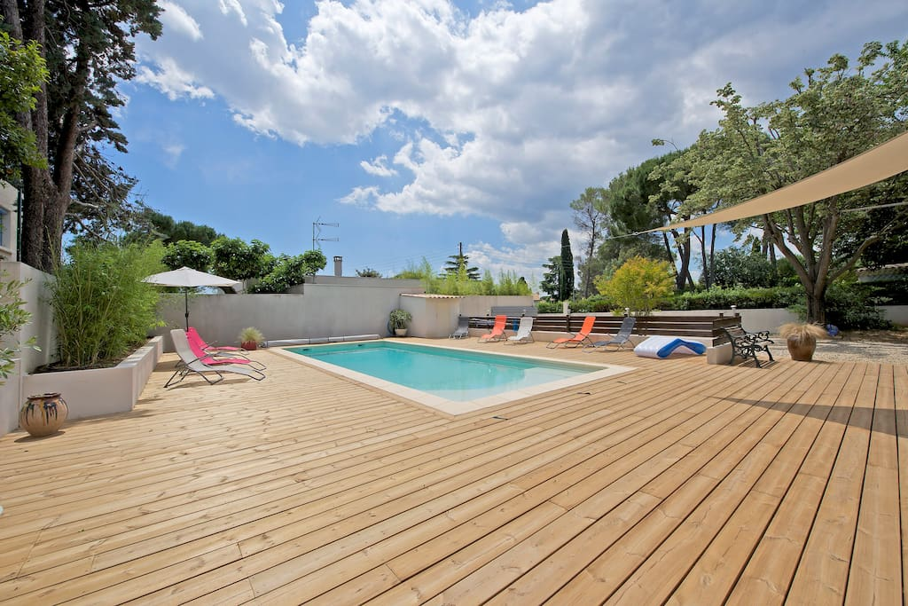 Villa piscine pr montpellier 5 pers houses for rent in for Piscine castelnau le lez