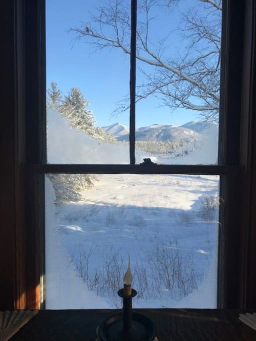 Frosty view from the room