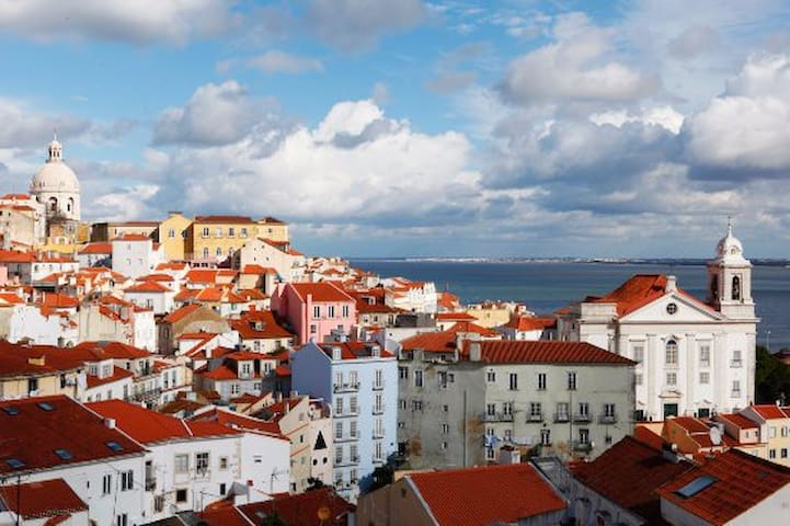 Lisbon down town, just one step away from home...
