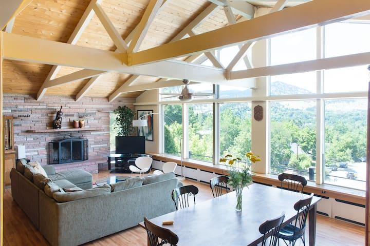Overlooking Boulder; outstanding 8 bedroom home