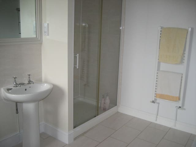 Lovely bathroom with shower and bath