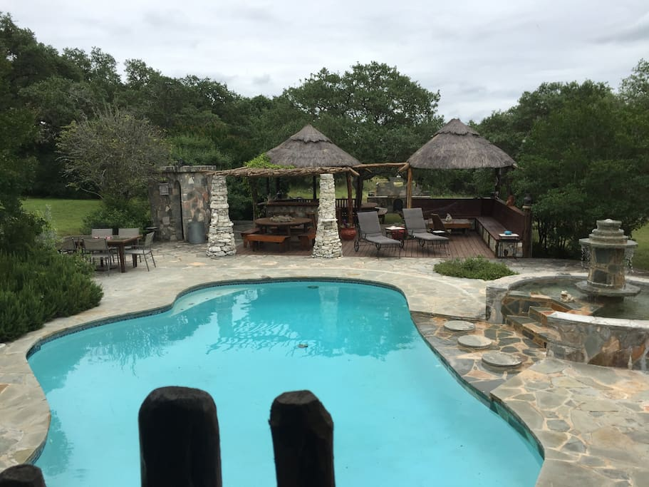 Gorgeous and private pool with gazebo's