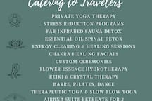 Holistic Healing Services. Write to me your interest and I will share description and discount retreat pricing with you.