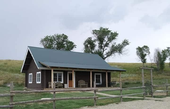 The Cabin at Triangle Ranch  near  Badlands of SD.