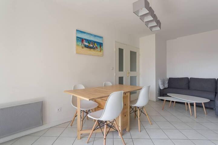Agréable, calme appartement Lyon Monplaisir - 4pax