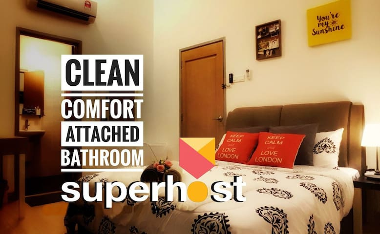 CLEAN • COMFORT • COZY • PRIVATE BATHROOM • 私浴精美套房