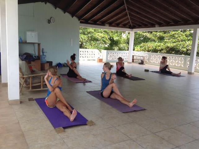 Join a free yoga class and unwind.