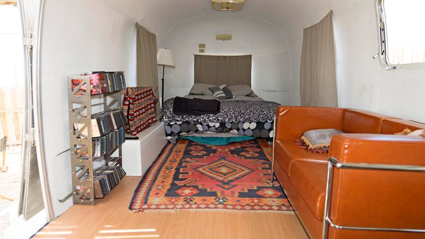 Inside airstream  bed view