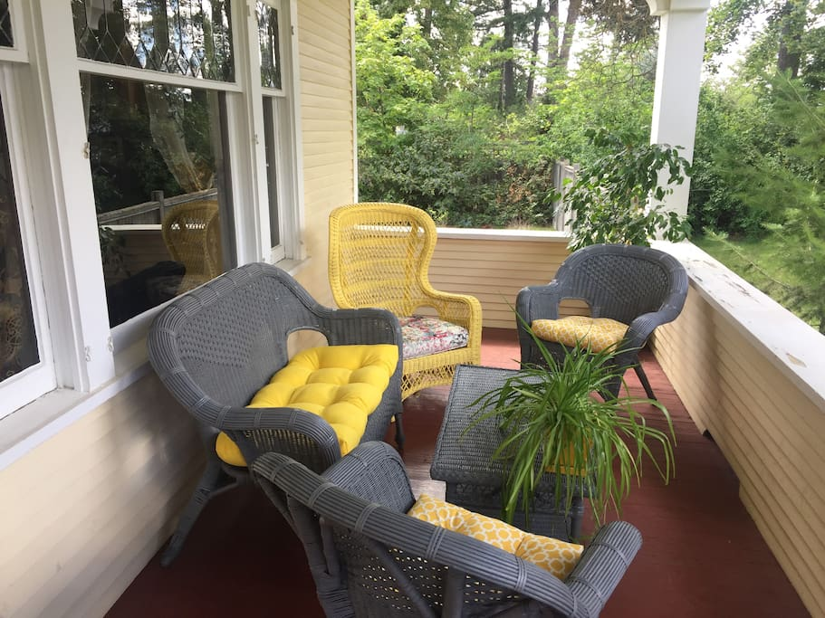 The front porch settee -- another great way to enjoy this lovely home.