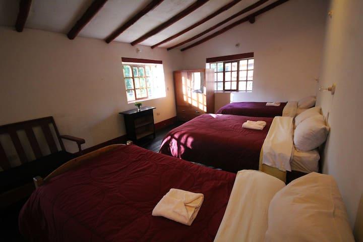 Urubamba sacred valley triple room