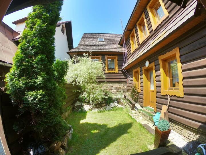 Bývanie s úžasným výhľadom z terasy v Chate Diana