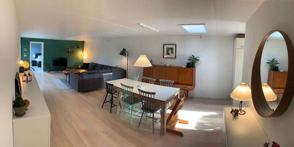 Family house with room for 8 people in total