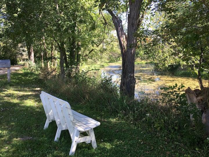 Vacation & Work  @ retreat in the Kickapoo Valley