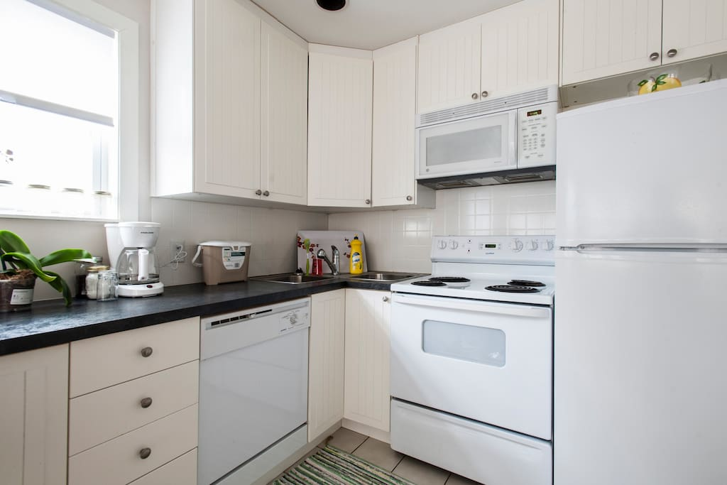 Full kitchen with all you need for your stay