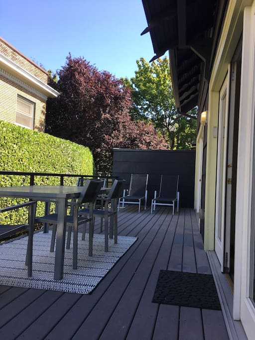Private Lounge and Patio Area