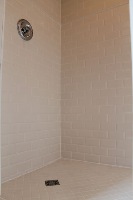 Spacious, newly renovated shower