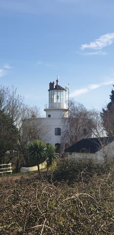 Unique shaped Lighthouse in Newport Gwent