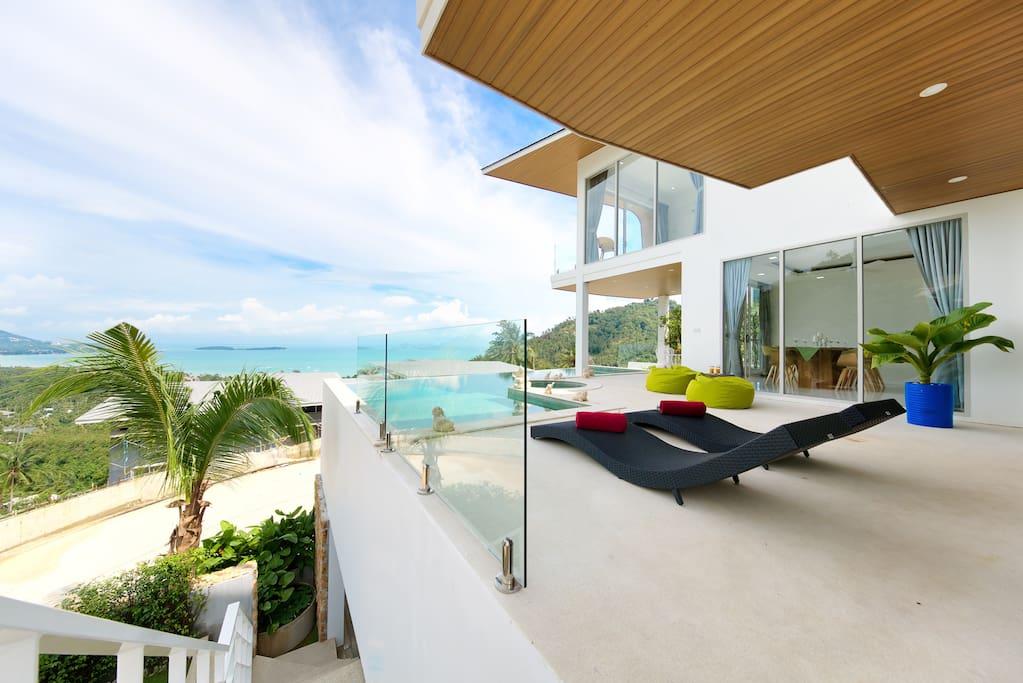 Pool Deck View/ Entrance