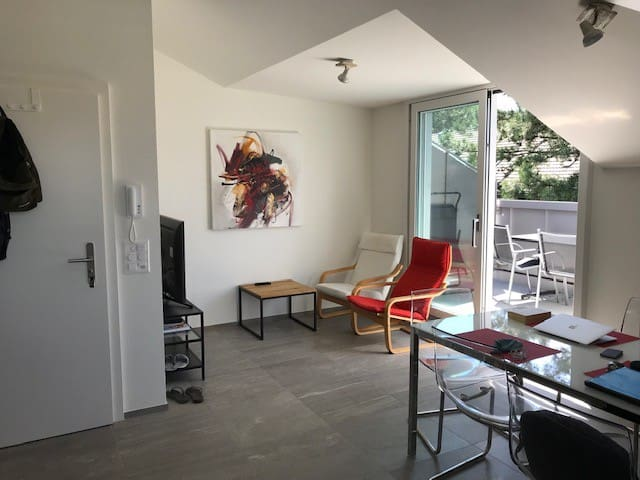 Apartment in picturesque St. Alban Tor district.