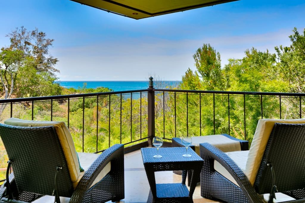 Tranquil views of the ocean from your private balcony.