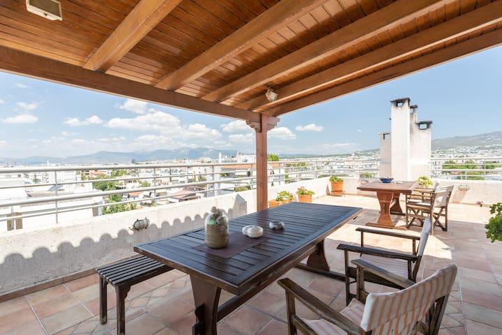Athens view loft @ Chalandri near metro station
