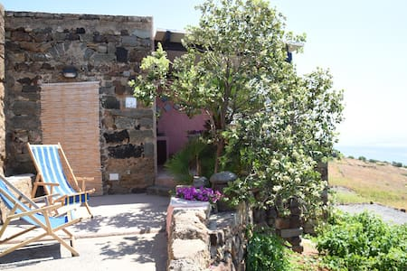 Dammuso fiore di cappero a pochi m. dal mare. - Pantelleria