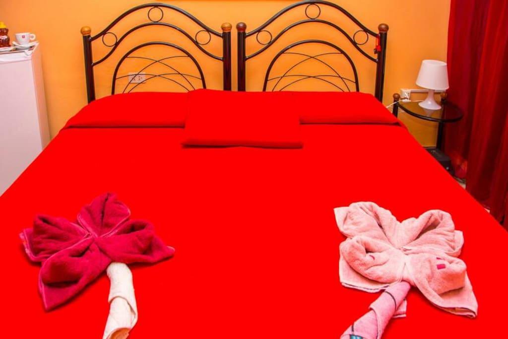 Habitación doble para parejas.