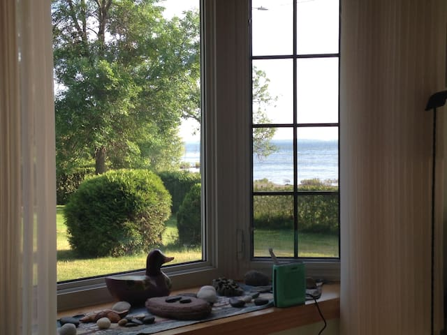 View the lake from every room in the house.