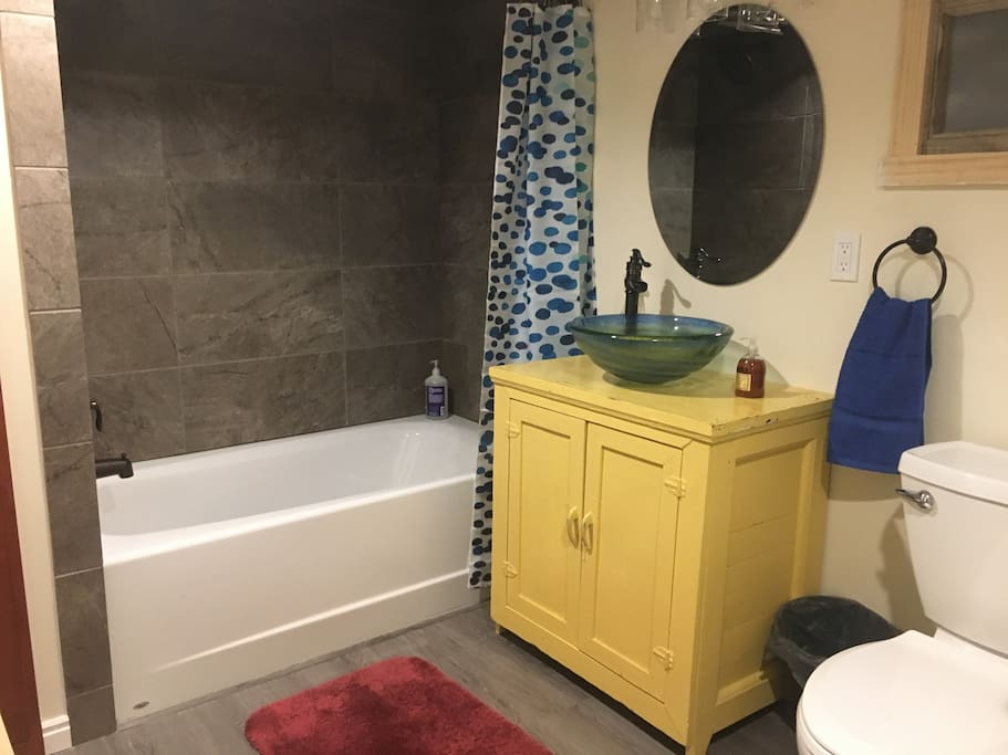 New Bathroom with extra deep tub
