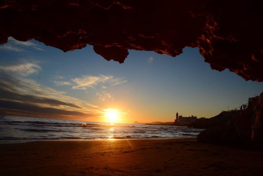 Playas estupendas alrededor de Sitges