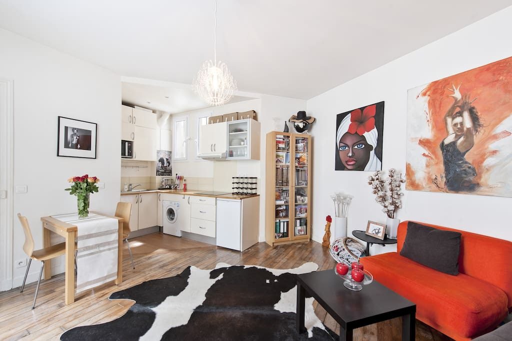 Colourful 1 bed flat close to Jardin du Luxembourg