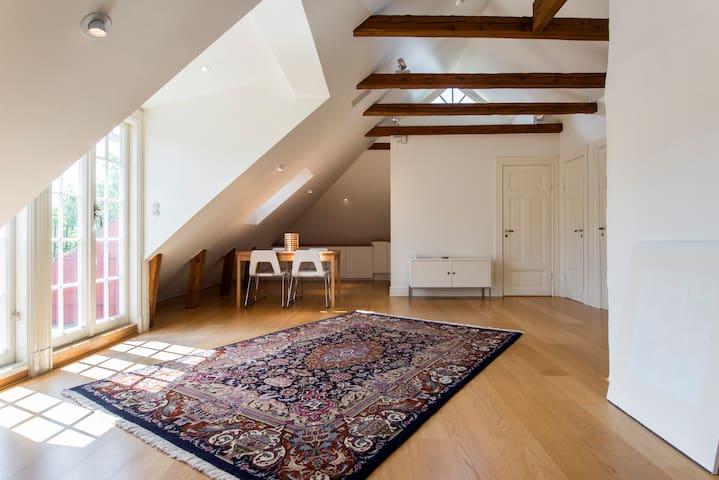 Spacious attic studio close to Stockholm City