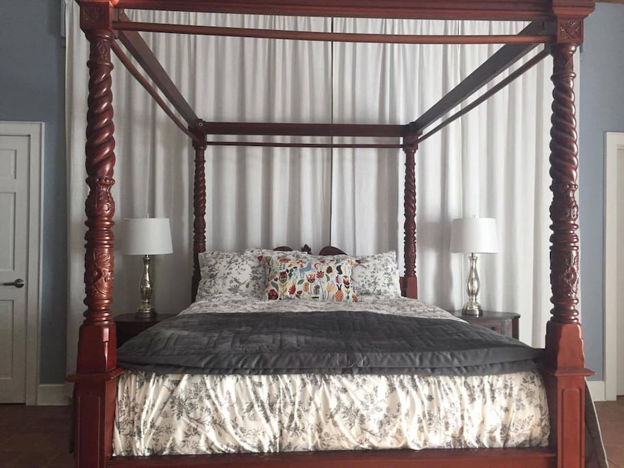The four-poster canopy bed