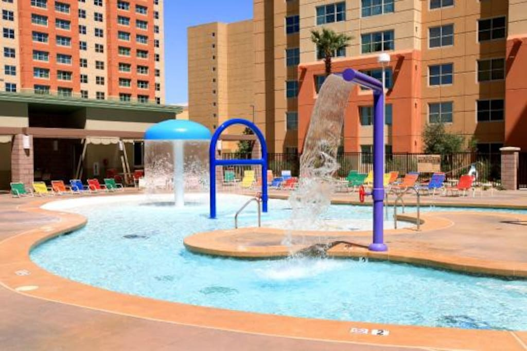 Kiddie pool playground.