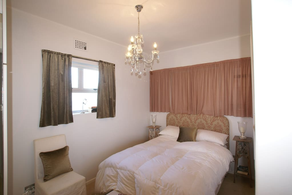 On suite bedroom with a double bed