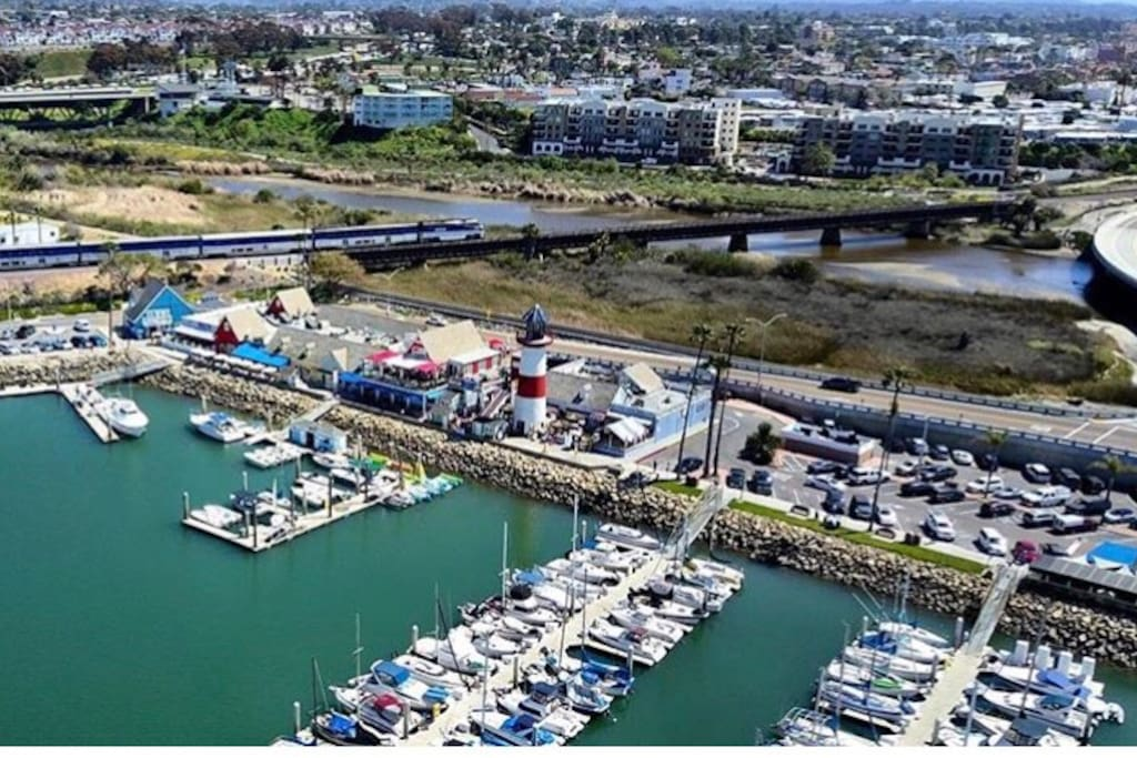 Oceanside Harbor . Minutes away! Great restaurants, boat and paddle board rentals and more!