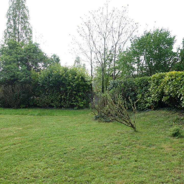 Maison avec grand jardin arbore