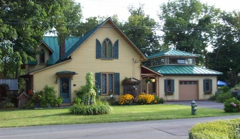 Room in charming, historic Gothic Revival cottage
