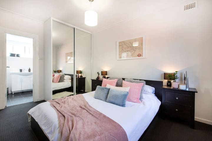 Relaxing Bedroom with plenty of cupboard space for your stay