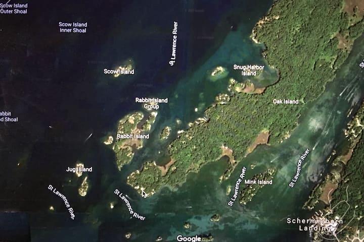 Oak Island in the Thousand Islands, N.Y.